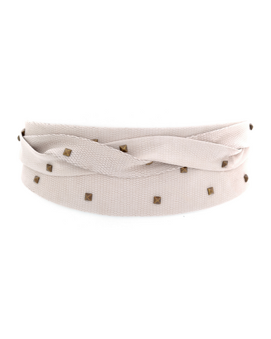 Pyramid Wrap Belt - Sand Marble