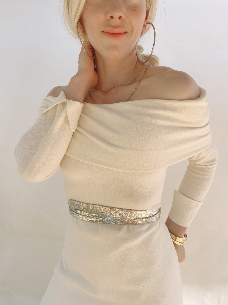 Skinny Wrap Belt - Bronze Foil