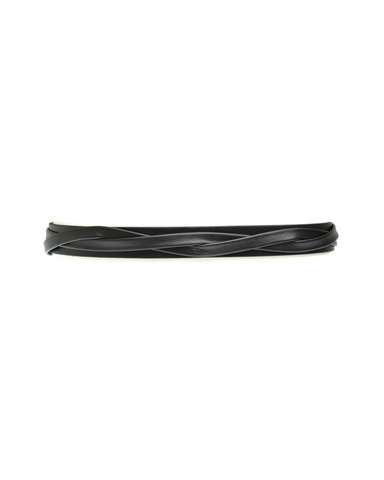 Skinny Wrap Belt - Black
