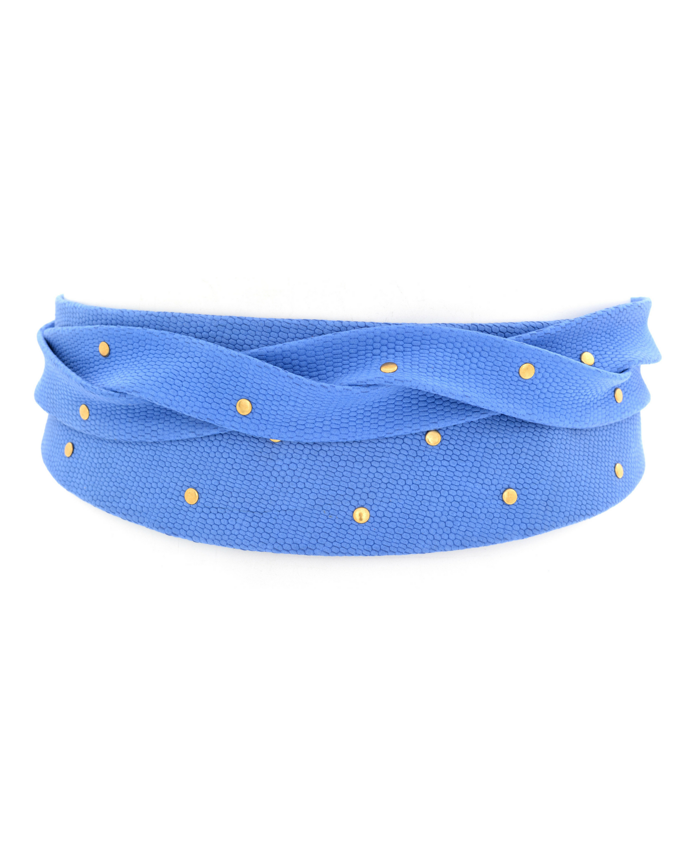 Stud Wrap Belt - Blue Marble