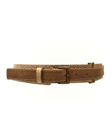 Victoria Belt - Gold Croco