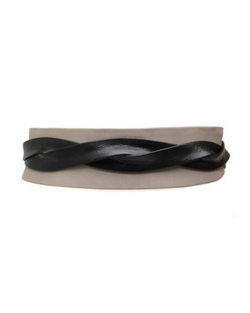 Wrap Belt - Taupe Black Combo