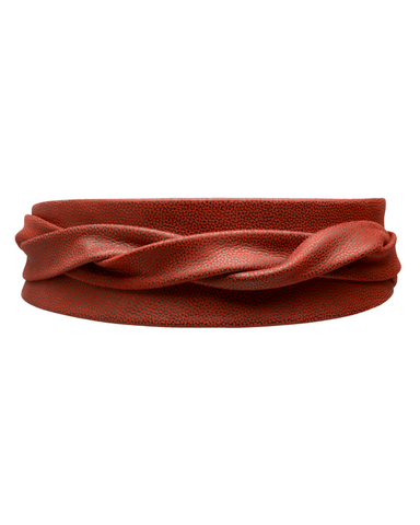 Wrap Belt - Textured Red