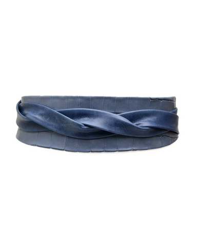 Wrap Belt - Indigo Croco