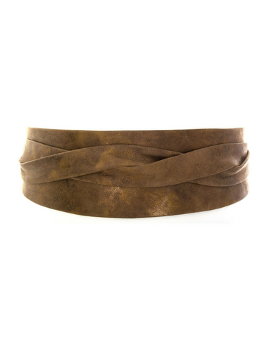 Wrap Belt - Tan Croco