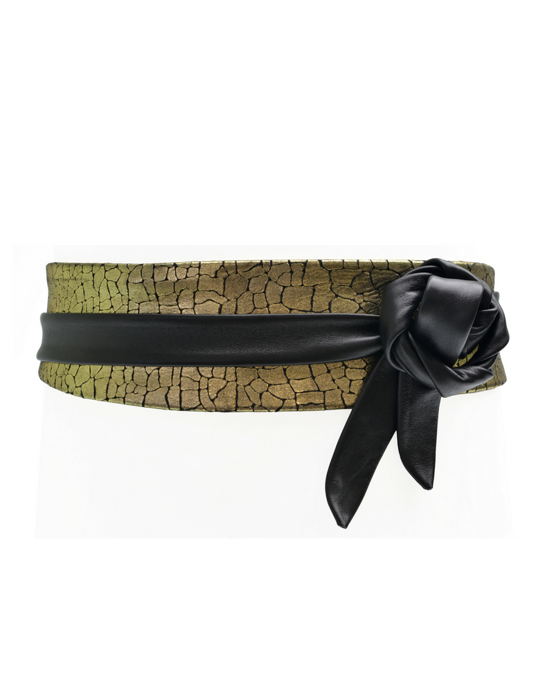 Wrap Belt - Gold Mosaic Combo