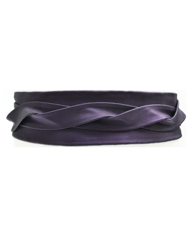 Wrap Belt - Purple Metallic Grid