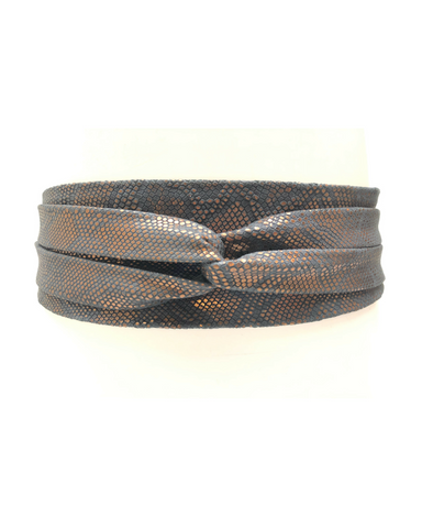 Wrap Belt -  Burgundy Stingray