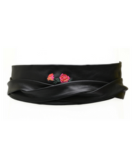 Wrap Embroidery - Black