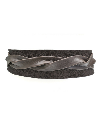 Wrap Belt -  Chocolate Stingray