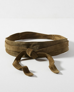 Wrap Belt - Olive Suede