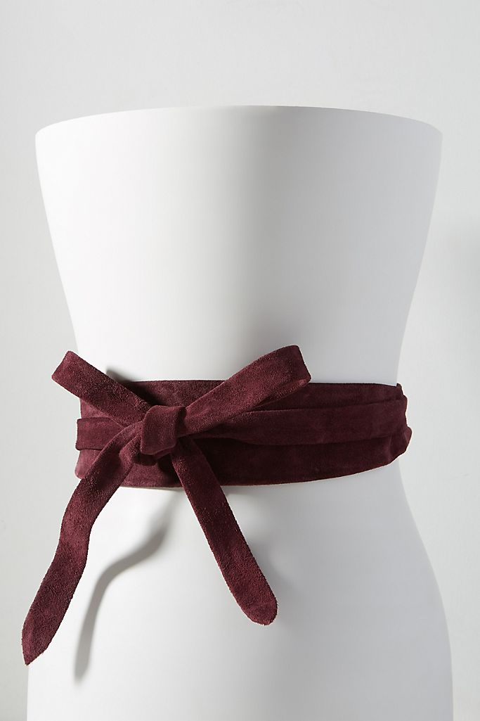 Wrap Belt - Berry Suede