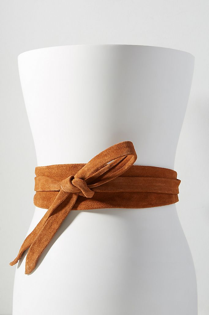 Wrap Belt - Cognac Suede