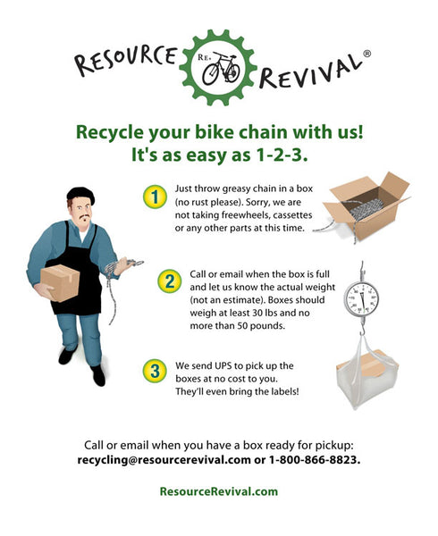 Bike Chain Recycling Flyer