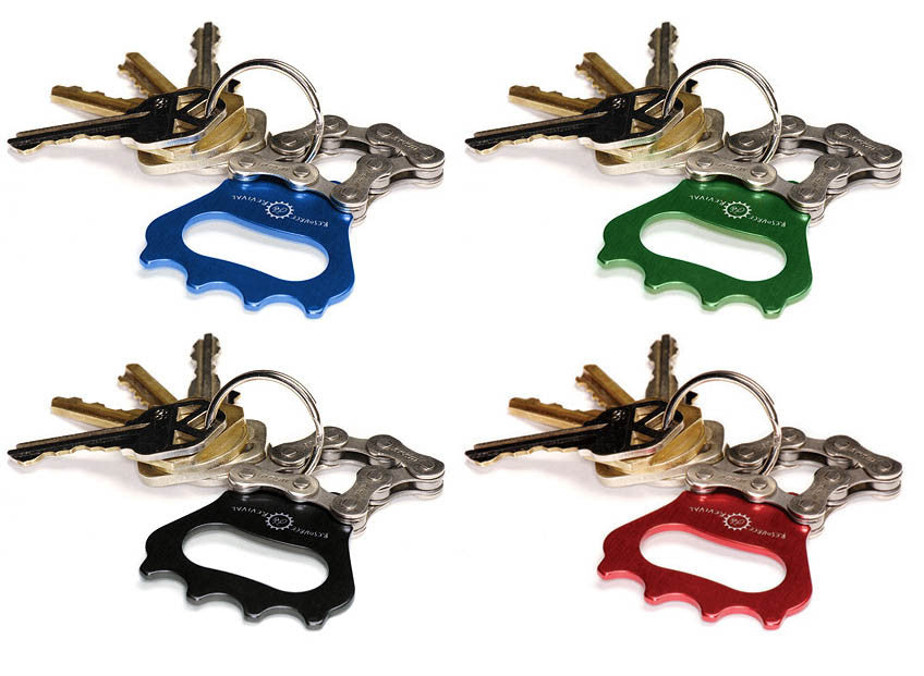 Color options for our upcycled, interesting Bottle Opener Keychains
