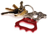 Bike Chain bottle opener keychains - interesting handmade gifts for cyclists - red