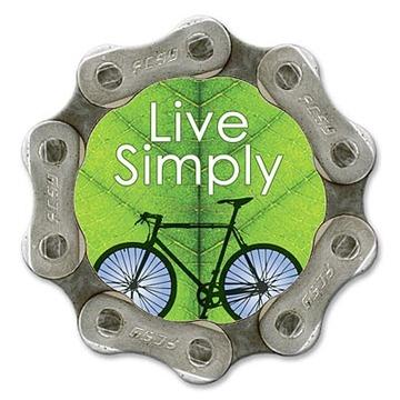 Handmade, eco-friendly, sustainable bike chain magnet - Live Simply