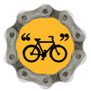 Handmade, recycled bike chain magnet - Bike in quotes