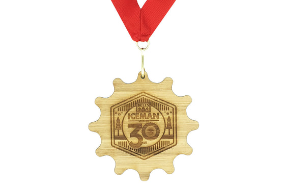 "3.8"" Bamboo Finisher Medals"