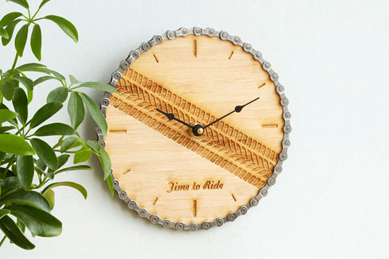 Time to Ride Wall Clock