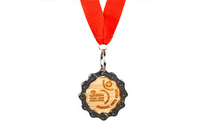 Engraved Bamboo Medal - Handmade from recycled materials
