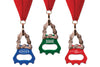 Creative and interesting Bottle Opener Medals - choose from black, blue, green, and red