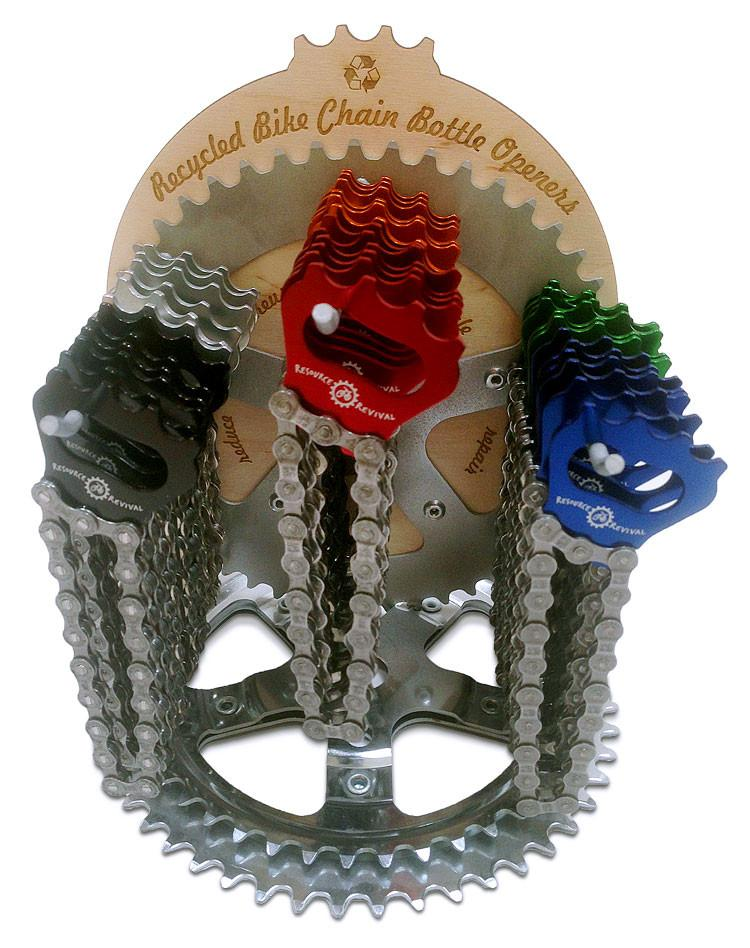 Resource Revival Bike Chain Bottle Openers