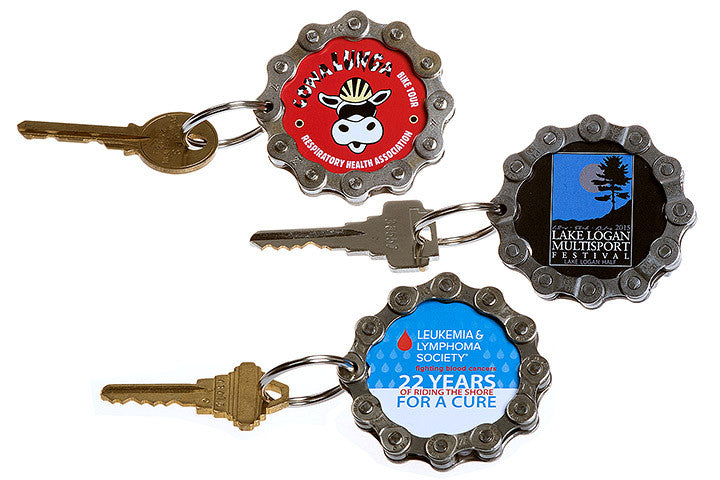Printed Round Keychains - a great high volume promotional product