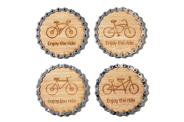 Resource Revival Bike Chain Coasters