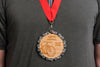 Resource Revival Large Bamboo Medals - made from post-consumer recycled bicycle chains