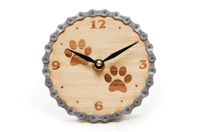 Resource Revival Paw Print Desk Clock - Front view
