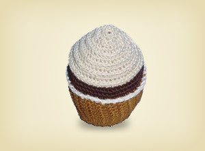 Organic cotton cupcake dental toy AUSTRALIA-WIDE