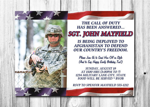Deployment Party Invitation Designs Decors – Deployment Party Invitations