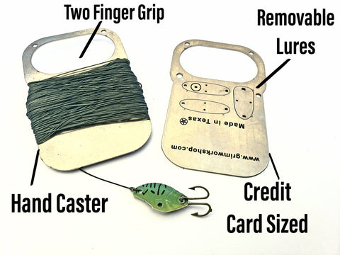 Image of Hand Caster Fishing Card (preorder will not ship untill in stock) - Grimworkshop