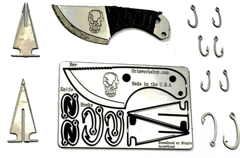 Image of Bushcraft Card-Grimworkshop-bugoutbag-bushcraft-edc-gear-edctool-everydaycarry-survivalcard-survivalkit-wilderness-prepping-toolkit