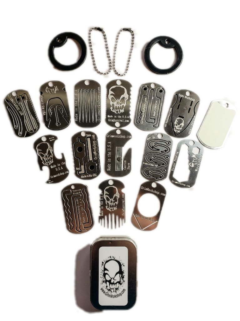 Dog Tag Sized Survival Necklace
