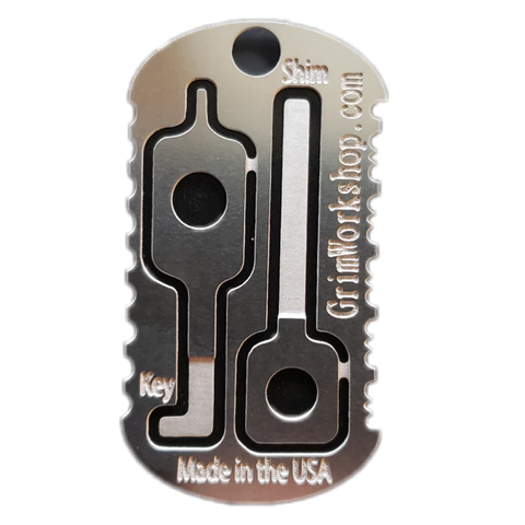 Image of Emergency Escape and Evasion Dog Tag Survival Necklace-Grimworkshop-bugoutbag-bushcraft-edc-gear-edctool-everydaycarry-survivalcard-survivalkit-wilderness-prepping-toolkit