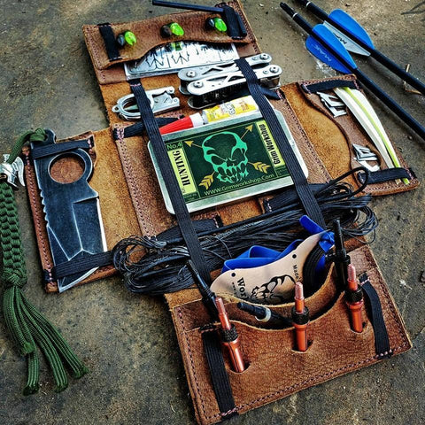 Everyday Carry Tool Roll Organizer and Wallet-Grimworkshop-bugoutbag-bushcraft-edc-gear-edctool-everydaycarry-survivalcard-survivalkit-wilderness-prepping-toolkit