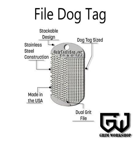 File Dog Tag Necklace Tool-Grimworkshop-bugoutbag-bushcraft-edc-gear-edctool-everydaycarry-survivalcard-survivalkit-wilderness-prepping-toolkit