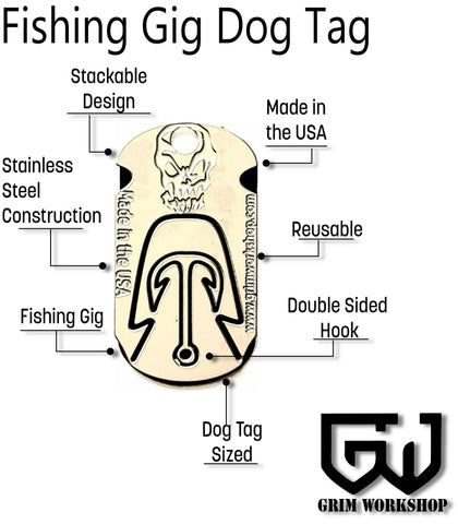 Image of Gig Dog Tag Survival Necklace-Grimworkshop-bugoutbag-bushcraft-edc-gear-edctool-everydaycarry-survivalcard-survivalkit-wilderness-prepping-toolkit