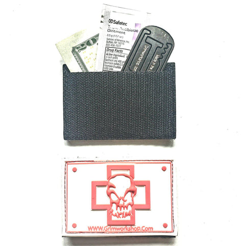 Grim First Aid Morale Patch with Hidden Pocket-edc-wilderness-urban-bugoutbag-survivalcard-kit-creditcardtool-Grimworkshop