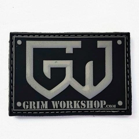 Image of Grim Grey Morale Patch with Hidden Pocket-edc-wilderness-urban-bugoutbag-survivalcard-kit-creditcardtool-Grimworkshop