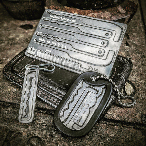 Grim key Lock Picking Dog Tag-edc-wilderness-urban-bugoutbag-survivalcard-kit-creditcardtool-Grimworkshop