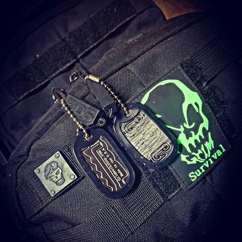 Image of Grim key Lock Picking Dog Tag-Grimworkshop-bugoutbag-bushcraft-edc-gear-edctool-everydaycarry-survivalcard-survivalkit-wilderness-prepping-toolkit