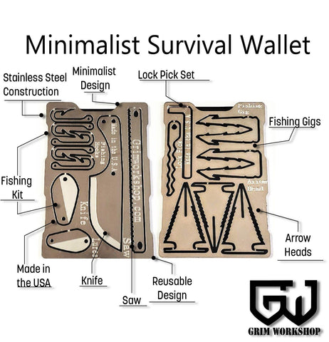 Grim Survival Multi-Tool Wallet-Grimworkshop-bugoutbag-bushcraft-edc-gear-edctool-everydaycarry-survivalcard-survivalkit-wilderness-prepping-toolkit