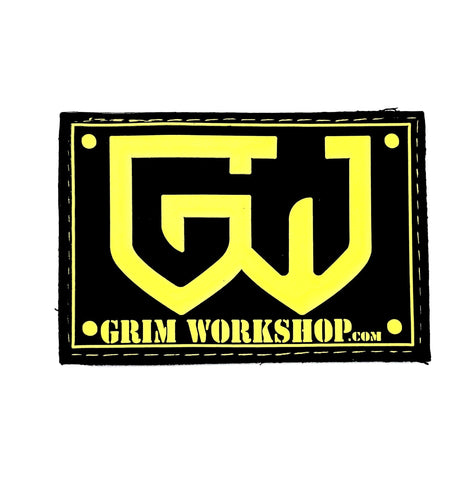Grim yellow Morale Patch with Hidden Pocket-Grimworkshop-bugoutbag-bushcraft-edc-gear-edctool-everydaycarry-survivalcard-survivalkit-wilderness-prepping-toolkit