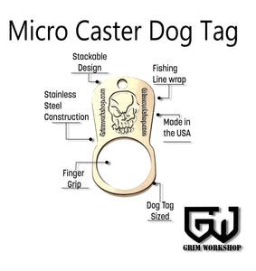 Micro Caster Dog Tag Survival Necklace-Grimworkshop-bugoutbag-bushcraft-edc-gear-edctool-everydaycarry-survivalcard-survivalkit-wilderness-prepping-toolkit