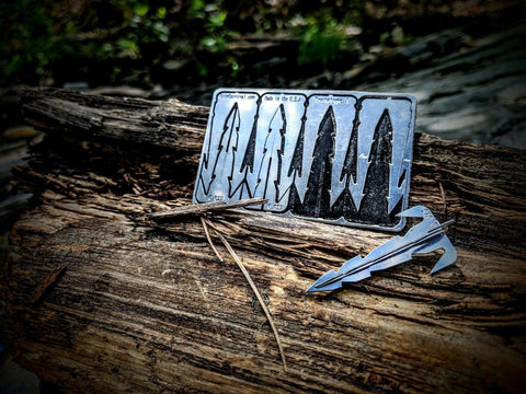 Image of Mini Surf and Turf Arrow Survival Card-Grimworkshop-bugoutbag-bushcraft-edc-gear-edctool-everydaycarry-survivalcard-survivalkit-wilderness-prepping-toolkit