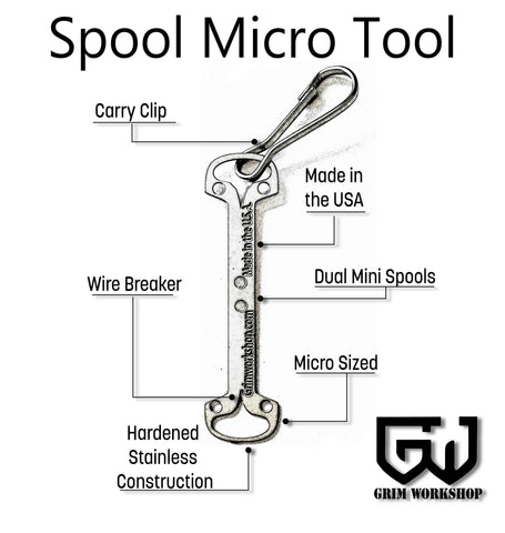 Spool Micro Tool String / Wire / Tape-Grimworkshop-bugoutbag-bushcraft-edc-gear-edctool-everydaycarry-survivalcard-survivalkit-wilderness-prepping-toolkit