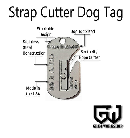 Strap Cutter Dog Tag survival necklace-Grimworkshop-bugoutbag-bushcraft-edc-gear-edctool-everydaycarry-survivalcard-survivalkit-wilderness-prepping-toolkit